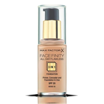 Max Factor Facefinity All Day Flawless 3 In 1 Foundation 55 Beige 30ml