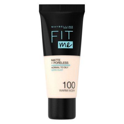 Maybelline Fit Me Matte + Poreless Foundation 100 Warm Ivory